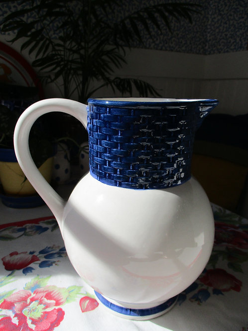 Tiffany & Co.~Pitcher~White and Blue~Italian