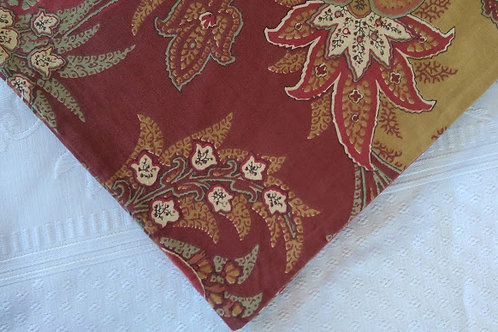 Pottery Barn Madeleine Red Green Terracotta Palampore Paisley Euro Sham