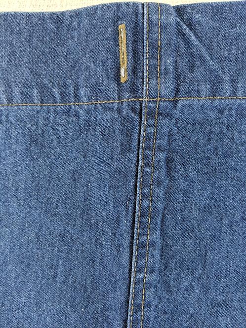 Nobility Denim Shower Curtain Panel Gold Stitching