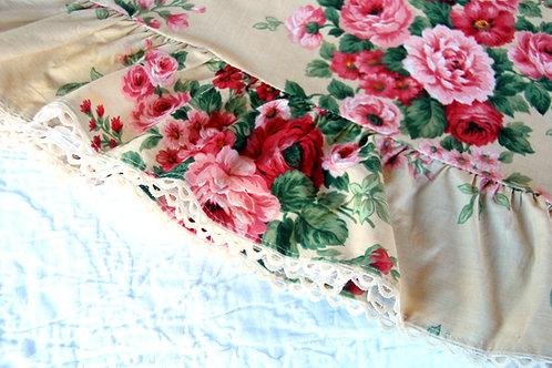 Liz Claiborne Queen Flat Ruffled Sheet
