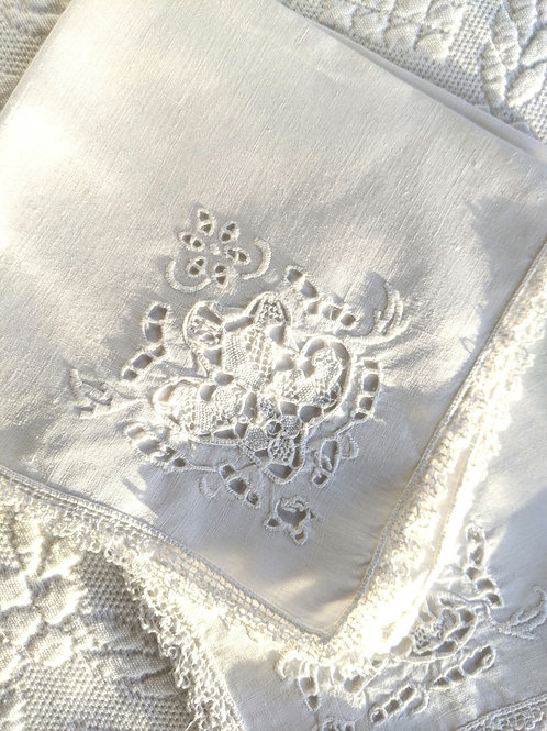 Victorian Luncheon Napkins - Crochet, Embroidery and Cutwork circa 1920s