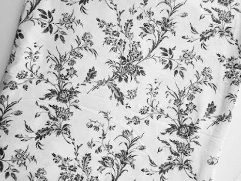 Ikea Alvine Kvist Floral Toile Twin Duvet Cover Charcoal