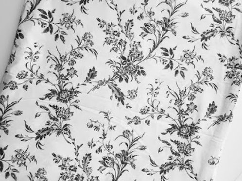 Ikea Alvine Kvist Gray White Floral Toile Full Duvet Cover Cotton French Country
