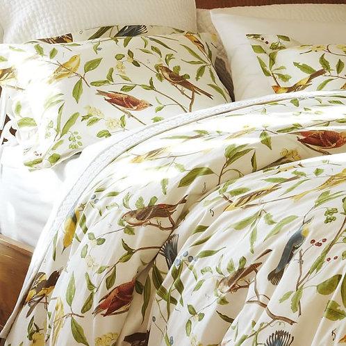 Pottery Barn Spring Sparrow Queen/Full Duvet Cover