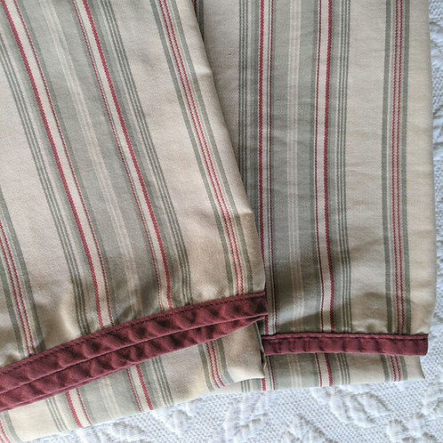 Ralph Lauren Desert Plains Stripe Sage Standard Case Pair