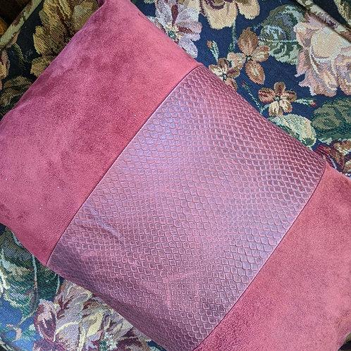 Ralph Lauren Mews Village Suede Burgundy Lumbar Pillow