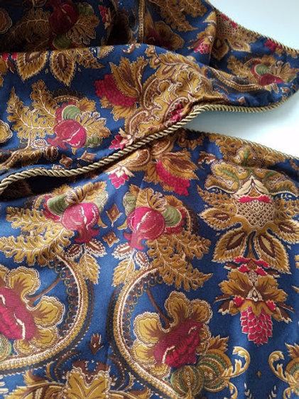 Chaps Ralph Lauren Leighton Jacobean Floral Standard Pillow Sham Pair Navy