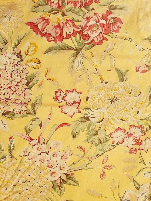 Pottery Barn Elodie Yellow Floral Twin Duvet chickadee vintage