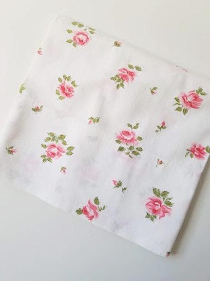 Roses Custom Vintage Cotton Std. Pillow Case