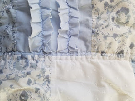 Simply Shabby Chic Bohemian Std. Sham~Blue White Patchwork