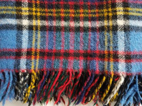 Vintage Anderson Plaid Wool Plaid Lap Blanket with Fringe chickadee vintage