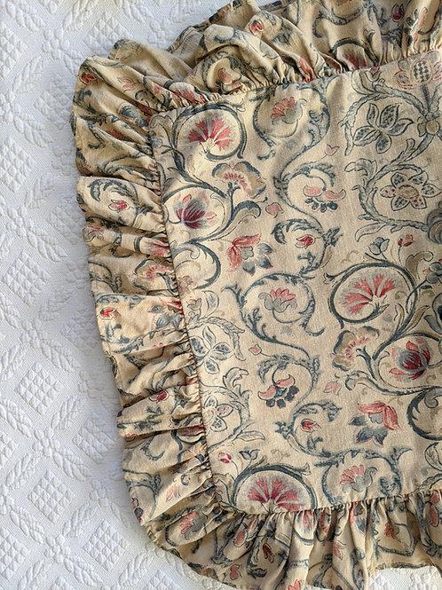 Provence Ralph Lauren Standard Ruffled Sham Floral Scroll
