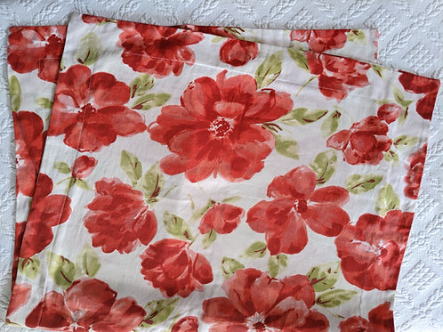 Laura Ashley Lifestyles Red Floral King Pillow Sham