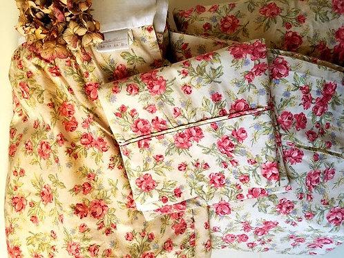 Eddie Bauer Twin Floral Bedding Set~4 Piece~ Cottage