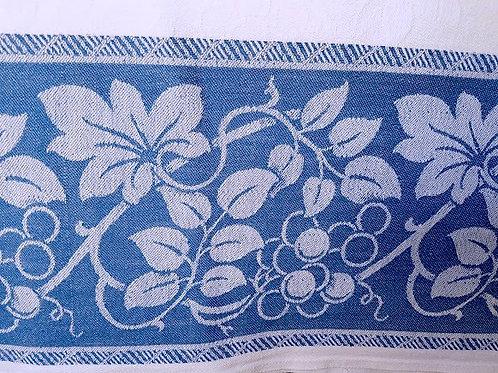 Vintage Tablecloth~Cotton~Blue White