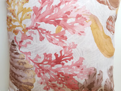 Pottery Barn Pillow~Coral and Shells