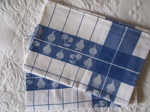 Cotton Tea Towels~Blue/White~Made in Portugal