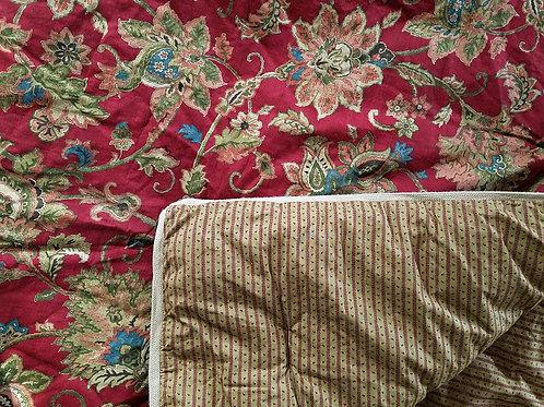 CHAPS Annabelle Jacobean Queen Comforter Std Shams Jute trim