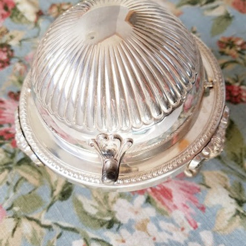 FB Rogers~ Dome Butter Caviar Dish~Silver Plate Vintage