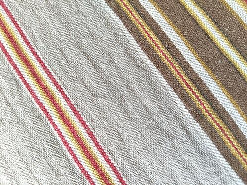Pottery Bar Serape Striped King Duvet Brown Gold Red