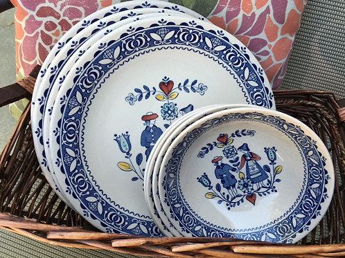 Old Granite Staffordshire Johnson Bros Bowls Plates