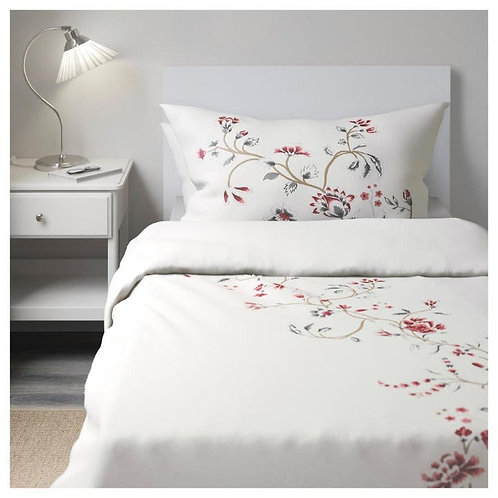 Ikea Rodbinka King Duvet Cover Shams  Cotton Sateen