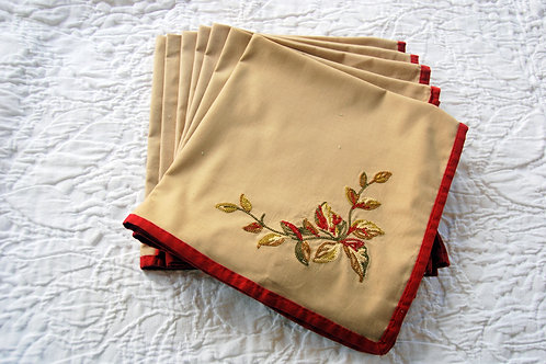 Chaps Holiday Cotton Napkins Embroidered Seven Piece