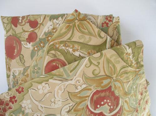 Pottery Barn Delphine Queen Full Duvet Cover Pomegranate Standard Sham Pair