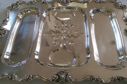 Silverplate Large Tray~Blackinton~Three Part 178