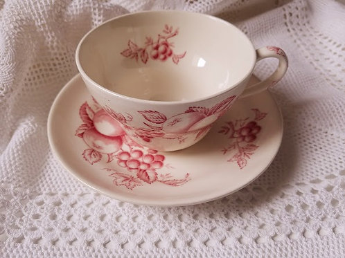 Harvest Time Mulberry Oversized Cup & Saucer by Johnson Brothers
