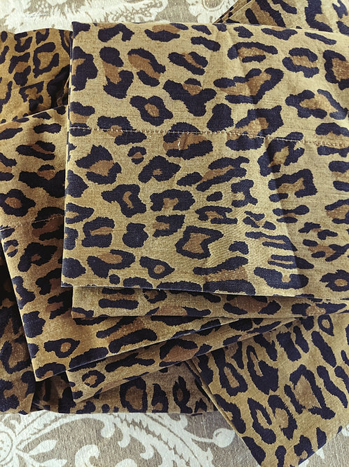Ralph Lauren Aragon Medieval Leopard Full Sheet Set
