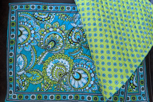 Vera Bradley Floral Placemats Set of 3 Blue Green