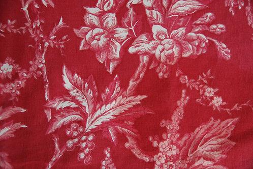 Martha Stewart Red Toile Floral Cotton Std. Shams