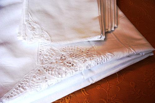 Battenburg Rectangle Tablecloth 10 Napkins New!