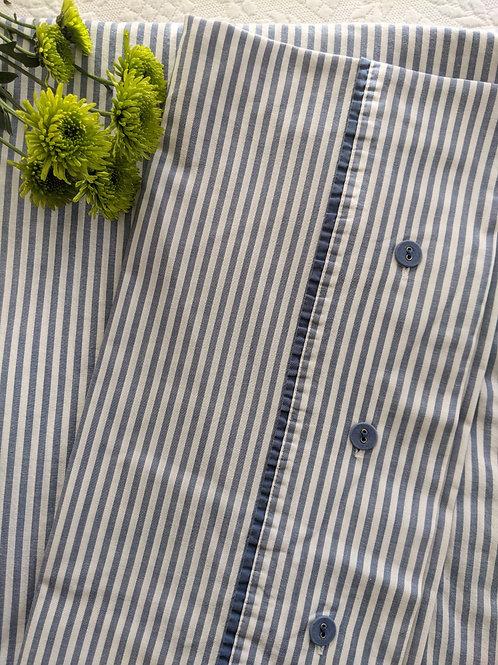 Ikea Nyponros Queen Duvet Cover Blue 100% Cotton Case
