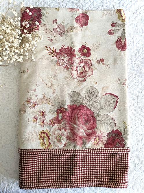 Waverly Garden Room Vintage Rose Gingham Valance New