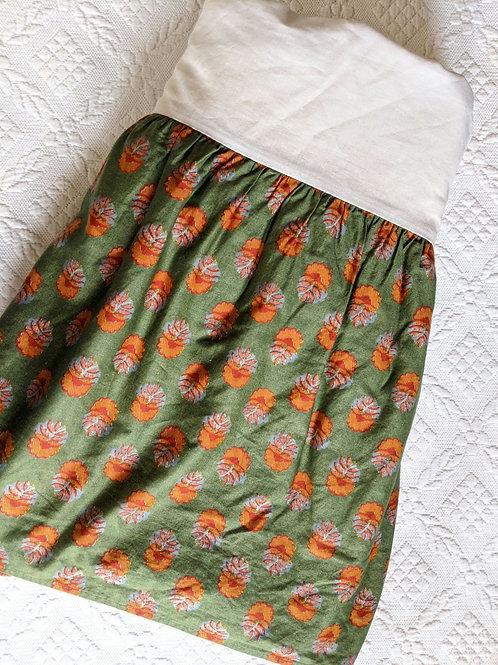 "Ralph Lauren Village Terrace Mews Paisley Green Full Bed skirt 14.5"""