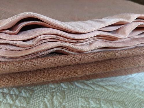 Vintage Wool Blanket, Twin, JC Penny Golden Dawn, Raspberry