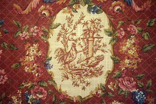 Waverly Saison De Printemps Bordeau Curtain Panel Pair