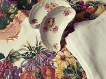 Bone Dish Set Vintage China Floral Crescent