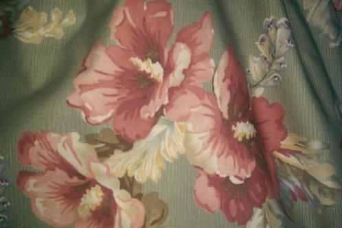 """Ralph Lauren Shetland Manor Floral~Queen Bed Skirt 18"""" Drop"""