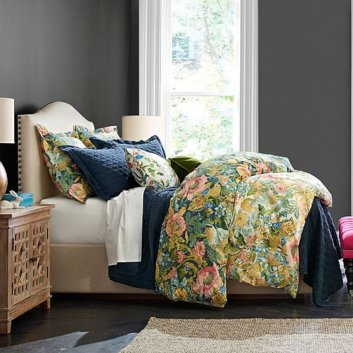 Pottery Barn King Duvet Cover Botanical Euro Shams