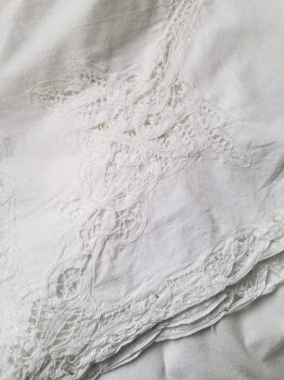Battenburg White Rectangle Tablecloth Large