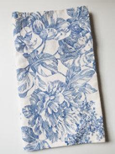 Waverly Valance Garden Toile Floral Cream Blue