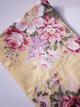 Ralph Lauren Sophie Brooke Full Flat Sheet Yellow Floral