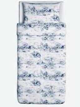 Ikea Emmie Land Blue Toile Twin Duvet
