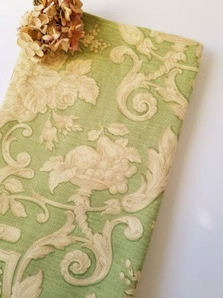 Waverly Valance Scrolls Fruit Green Tan Self lined