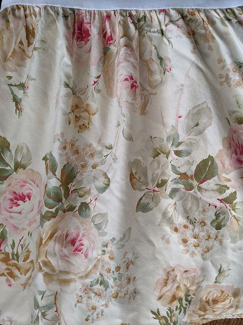 """Ralph Lauren Woodstock Garden Floral King Bed Skirt 15"""" Drop"""