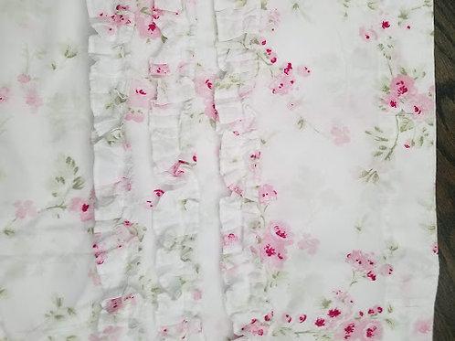Shabby Chic Cherry Blossom Shower Curtain Panel