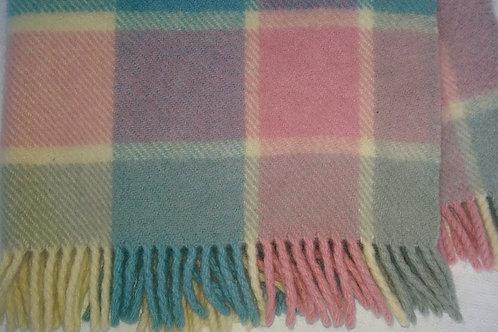 Abraham & Straus Vintage Plaid Baby Stroller Blanket English Wool